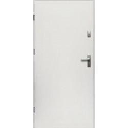 Drzwi Zewnętrzne Stalowe Białe Artemida 55 mm z Klamką i Wkładkami