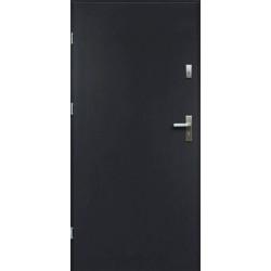 Drzwi Zewnętrzne Stalowe Antracyt Artemida 55 mm z Klamką i Wkładkami