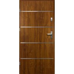 Drzwi Zewnętrzne Stalowe Złoty Dąb Atena 55 mm z Klamką i Wkładkami
