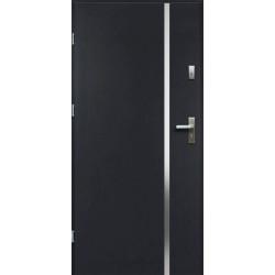Drzwi Zewnętrzne Stalowe Antracyt Hebe 55 mm z Klamką i Wkładkami
