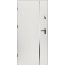 Drzwi Zewnętrzne Stalowe Białe Hebe 55 mm z Klamką i Wkładkami
