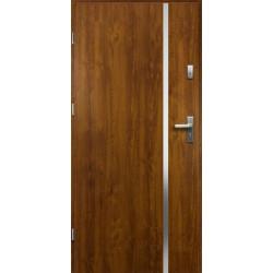 Drzwi Zewnętrzne Stalowe Złoty Dąb Hebe 55 mm z Klamką i Wkładkami