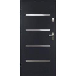 Drzwi Zewnętrzne Stalowe Antracyt Westa 55 mm z Klamką i Wkładkami
