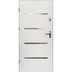 Drzwi Zewnętrzne Stalowe Białe Westa 55 mm z Klamką i Wkładkami