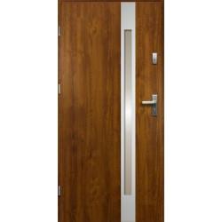 Drzwi Zewnętrzne Stalowe Złoty Dąb Temida Slim 55 mm z Klamką i Wkładkami