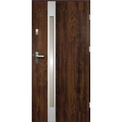 Drzwi Zewnetrzne Temida Slim Ciemny Orzech 55 mm