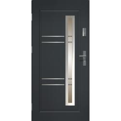 APOLLO - Drzwi zewnętrzne przeszklone - Antracyt. Produkt POLSKI.