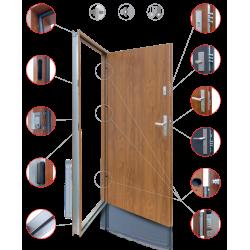 Drzwi Zewnętrzne Sol Ciemny Orzech 55 mm