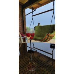 Podwójny Fotel Alpha Podwieszany Zielony - bujak ogrodowy
