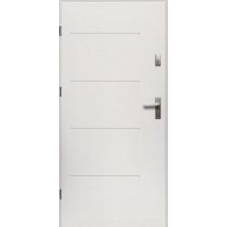 Drzwi Zewnętrzne Stalowe Białe Canus 55 mm z Klamką i Wkładkami