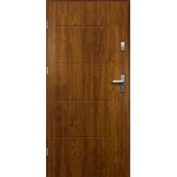Drzwi Zewnętrzne Stalowe Złoty Dąb Canus 55 mm z Klamką i Wkładkami