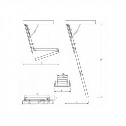 Schody Strychowe NORDIC 87mm 130x60 H-315