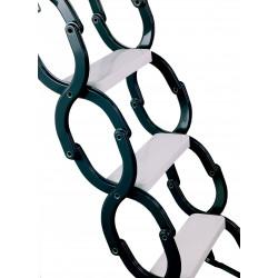 Schody Strychowe Nożycowe 33 mm 90x60 H-300 cm