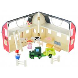 Składana Drewniana Farma Dla Dzieci Zabawka Figurki