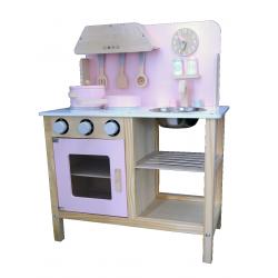 Fantastyczna Rozowa Drewniana Kuchnia dla Dzieci Sara