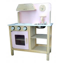 Fantastyczna Różowa Drewniana Kuchnia dla Dzieci Sara