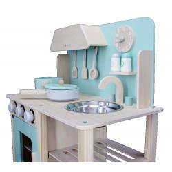 Fantastyczna Niebieska Drewniana Kuchnia dla Dzieci Sara