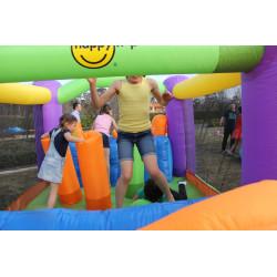 Dmuchany zamek TOR PRZESZKÓD trampolina HappyHop