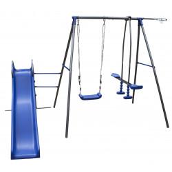 Solidny Metalowy Plac Zabaw Tymek Niebieski