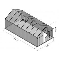 Szklarnia HQ Poliweglan ALU 570x290cm Produkcja UE