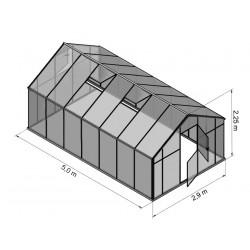 Szklarnia HQ Poliweglan ALU 500x290cm Produkcja UE