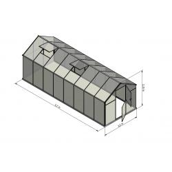 Szklarnia HQ Poliweglan ALU 570x220cm Produkcja UE