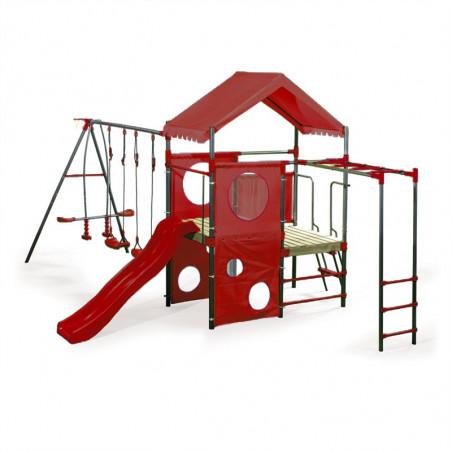 Ogromny Metalowy Plac Zabaw Olaf Czerwony 4iQ