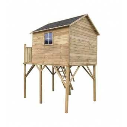 Drewniany domek ogrodowy dla dzieci - Jerzyk MAX - bez ślizgu