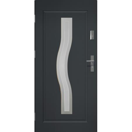 Drzwi zewnętrzne przeszklone CERES - Antracyt. Produkt POLSKI.
