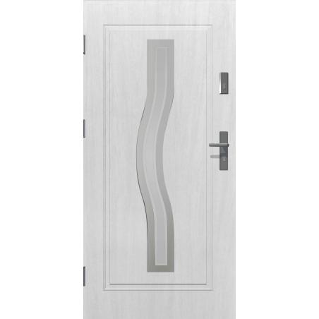 Drzwi zewnętrzne przeszklone CERES - Białe INOX. Produkt POLSKI.