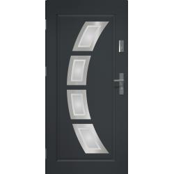 Drzwi zewnętrzne przeszklone HERMES - Antracyt. Produkt POLSKI.