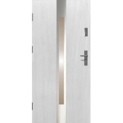 Drzwi zewnętrzne przeszklone IVORY - Białe INOX. Produkt POLSKI.