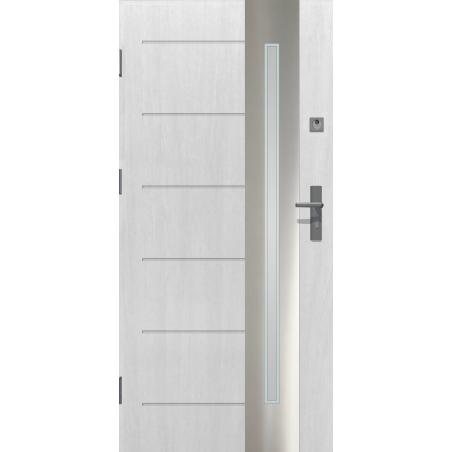 Drzwi zewnętrzne przeszklone RONIN - Białe INOX. Produkt POLSKI.