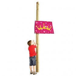 Flaga na place zabaw - Księżniczka