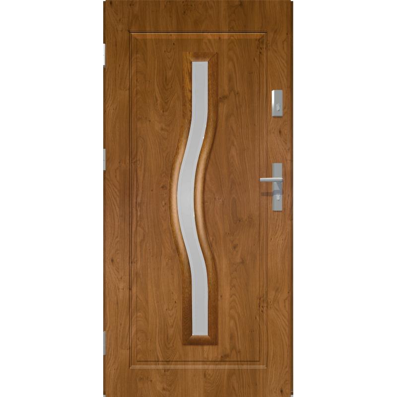 Drzwi zewnetrzne przeszklone CERES - Winchester. Szklenie Lakomat. Ramka PVC. Produkt polski.