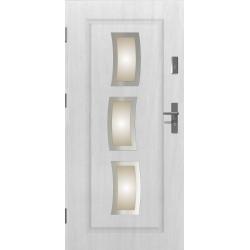 Drzwi zewnętrzne przeszklone STARS - Białe INOX. Produkt POLSKI.