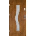 Drzwi zewnętrzne przeszklone CERES - Winchester INOX. Szklenie Lakomat. Produkt polski.