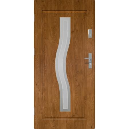 Drzwi zewnętrzne przeszklone CERES - Winchester INOX. Produkt POLSKI.