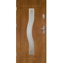 Drzwi zewnętrzne przeszklone CERES - Winchester INOX. Szklenie Stopsol. Produkt polski