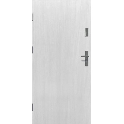 Drzwi zewnętrzne pełne KYPROS - Białe. Produkt POLSKI.
