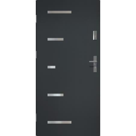 Drzwi zewnętrzne pełne SPARTA - Antracyt. Produkt POLSKI.