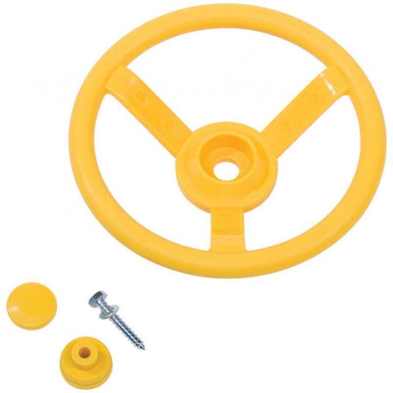 Kierownica na plac zabaw - zolta