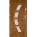 Drzwi zewnętrzne przeszklone HERMES - Winchester. Szklenie Lakomat. PVC. Produkt polski.