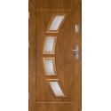 Drzwi zewnętrzne przeszklone HERMES - Winchester. Szklenie Stopsol. PVC. Produkt polski