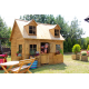 Drewniany domek ogrodowy dla dzieci - Maria z antresolą.