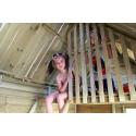Drewniany domek ogrodowy dla dzieci - Maria - Antresola