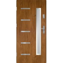 Drzwi zewnetrzne JUVENTUS - Winchester INOX. Szklenie Lakomat. Produkt polski.