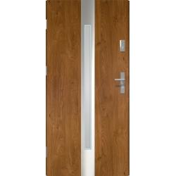 Drzwi zewnetrzne IVORY - Winchester INOX. Szklenie Lakomat. Produkt polski.