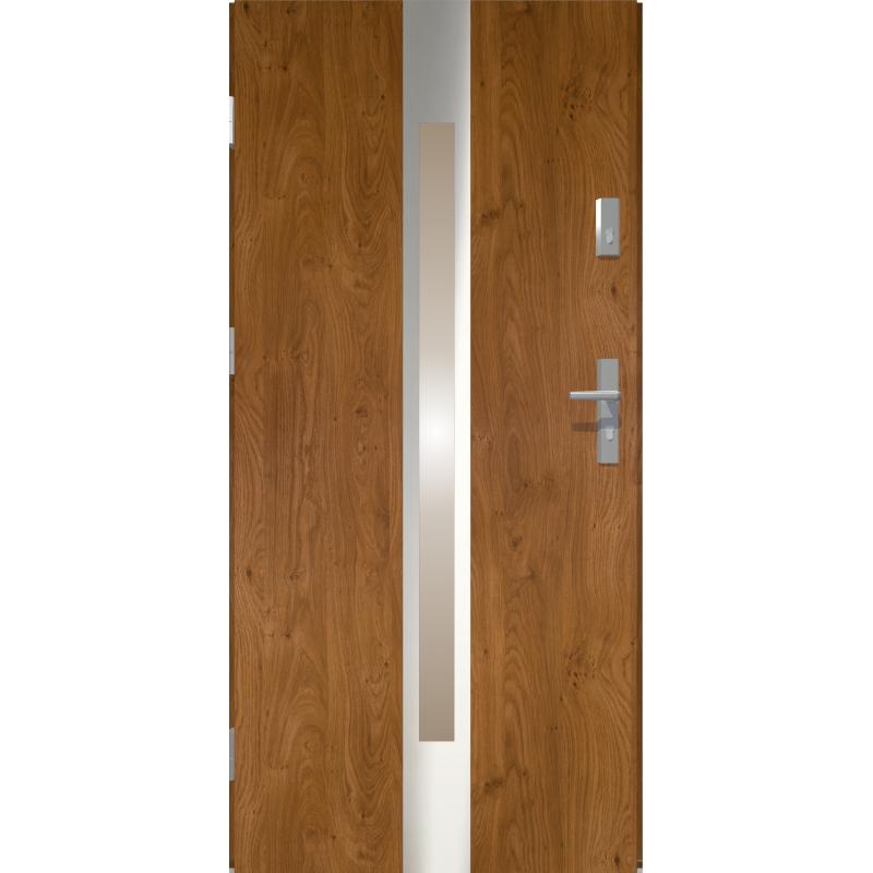 Drzwi zewnętrzne przeszklone IVORY - Winchester INOX. Produkt POLSKI.