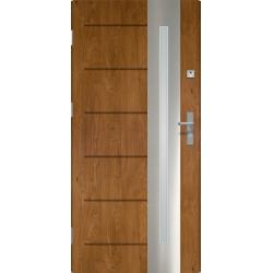 Drzwi zewnętrzne RONIN - Winchester INOX. Szklenie Lakomat. Produkt polski.
